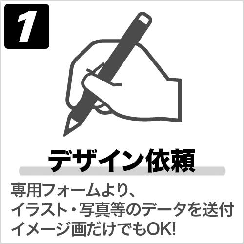 STEP1 手描きのデザイン、または参考写真をお送りください